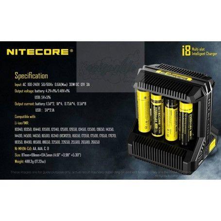Cargador Nitecore I8