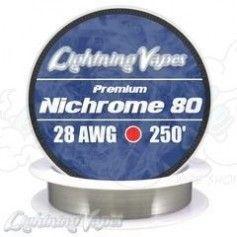 Nichrome 80 Cable resistencia 28GA - Lightning Vapes