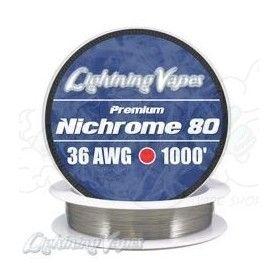 Nichrome 80 Cable resistencia 36GA - Lightning Vapes