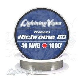 Nichrome 80 Cable resistencia 40GA - Lightning Vapes
