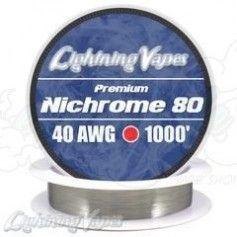 Nichrome 80 Cable resistencia 40GA - Lightning Vapes