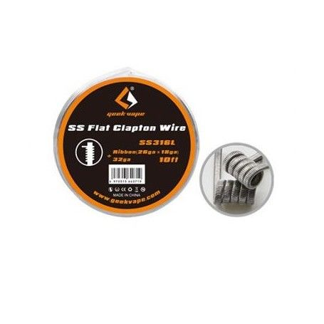 Flat Clapton/SS316L Ribbon (26ga*18ga)+32ga - GeekVape