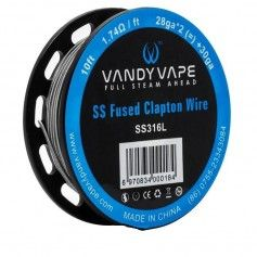 SS316L Fused Clapton Wire 28ga*2+30ga - Vandy Vape