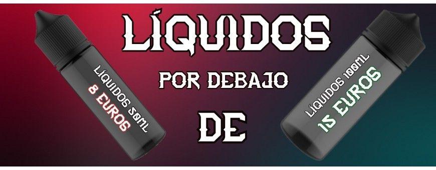 LIQUIDOS DE 50ML POR MENOS DE 8€